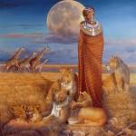 Этническая картина - Мать Африка
