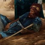 Этническая картина - Djenne liggende man