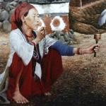 Этническая картина Ом Мани Падме Хум