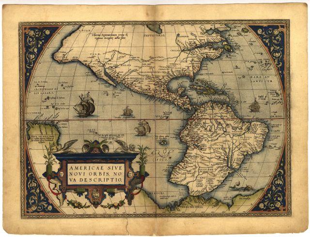 Древняя карта Америки