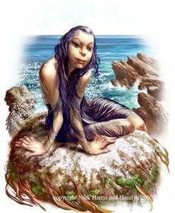 Селки. Иллюстрация Ника Харриса из книги Мифические существа