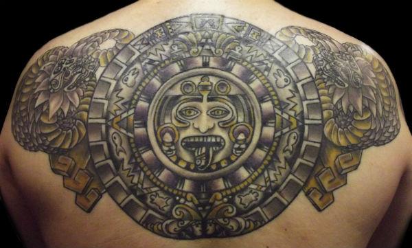 Татуировки Майя - бог Акат