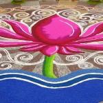 Цветок Лотоса в ранголи