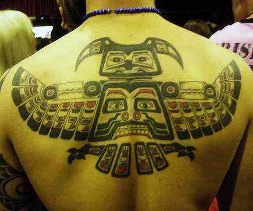 Татуировка майя - изображен тотем