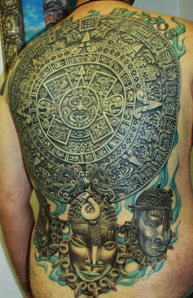 Татуировка племени майя