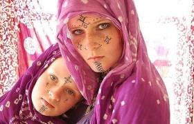 Харкуз – лицевые татуировки берберских женщин