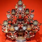 Дерево с темой глиняной посуды Talavera на красном