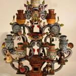 Дерево с темой глиняной посуды Talavera