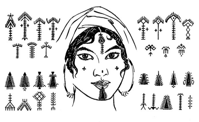 Берберская татуировка - основные символы