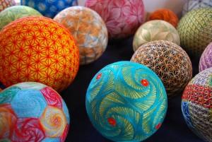 Декоративные шары Японии - темари