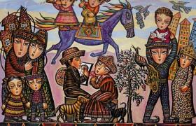 Колоритные этнические картины и сказочные миры от Севада Григорян