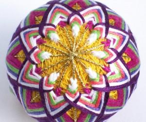 Декоративные японские шары Темари