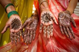 менди - украшение невесты в Индии, тату хной