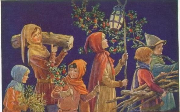 Яблоко и гвоздика - основные подарки на Йоль