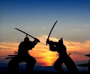 сражение на японских мечах