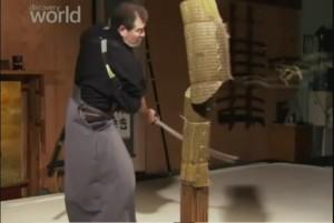 Проверка прочности и остроты японского меча