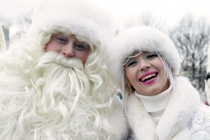 Снегурочка и Дед мороз - окрутники